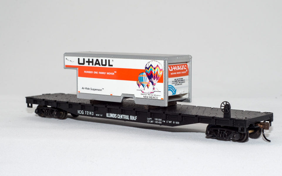 U-Haul New Mexico on Illinois Central Flatcar
