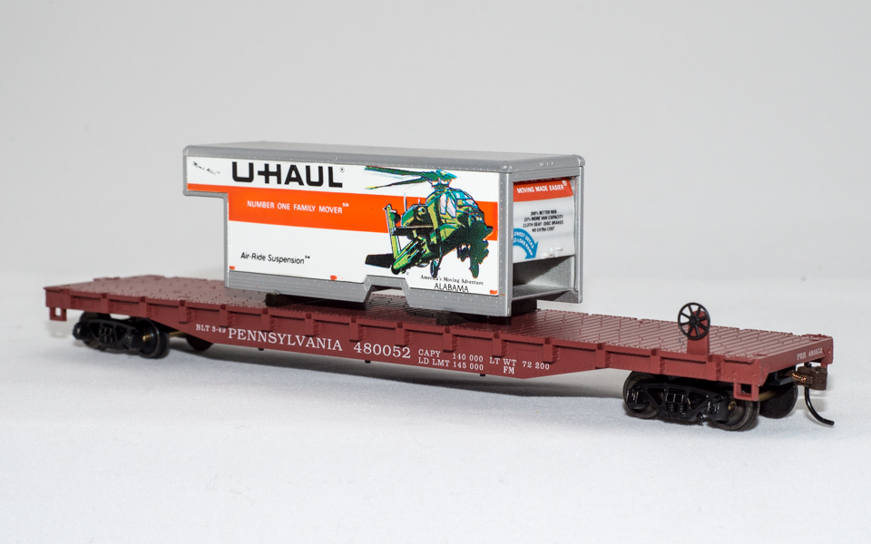 U-Haul Alabama on Pennsylvania Flatcar