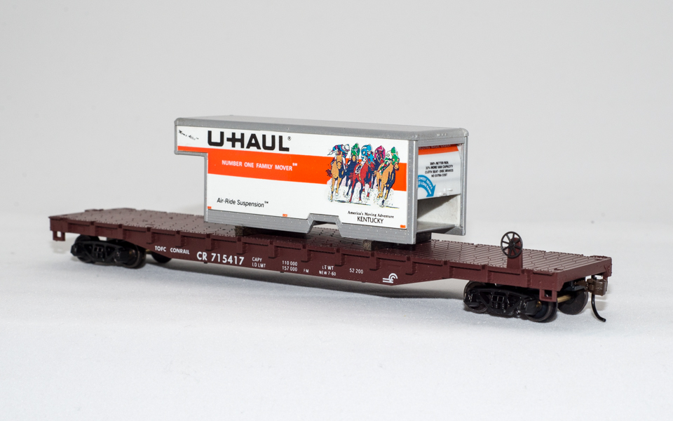 U-Haul Kentucky on Conrail Flatcar