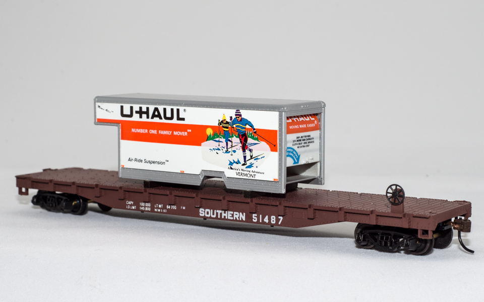 U-Haul Vermont on Southern Ry Flatcar