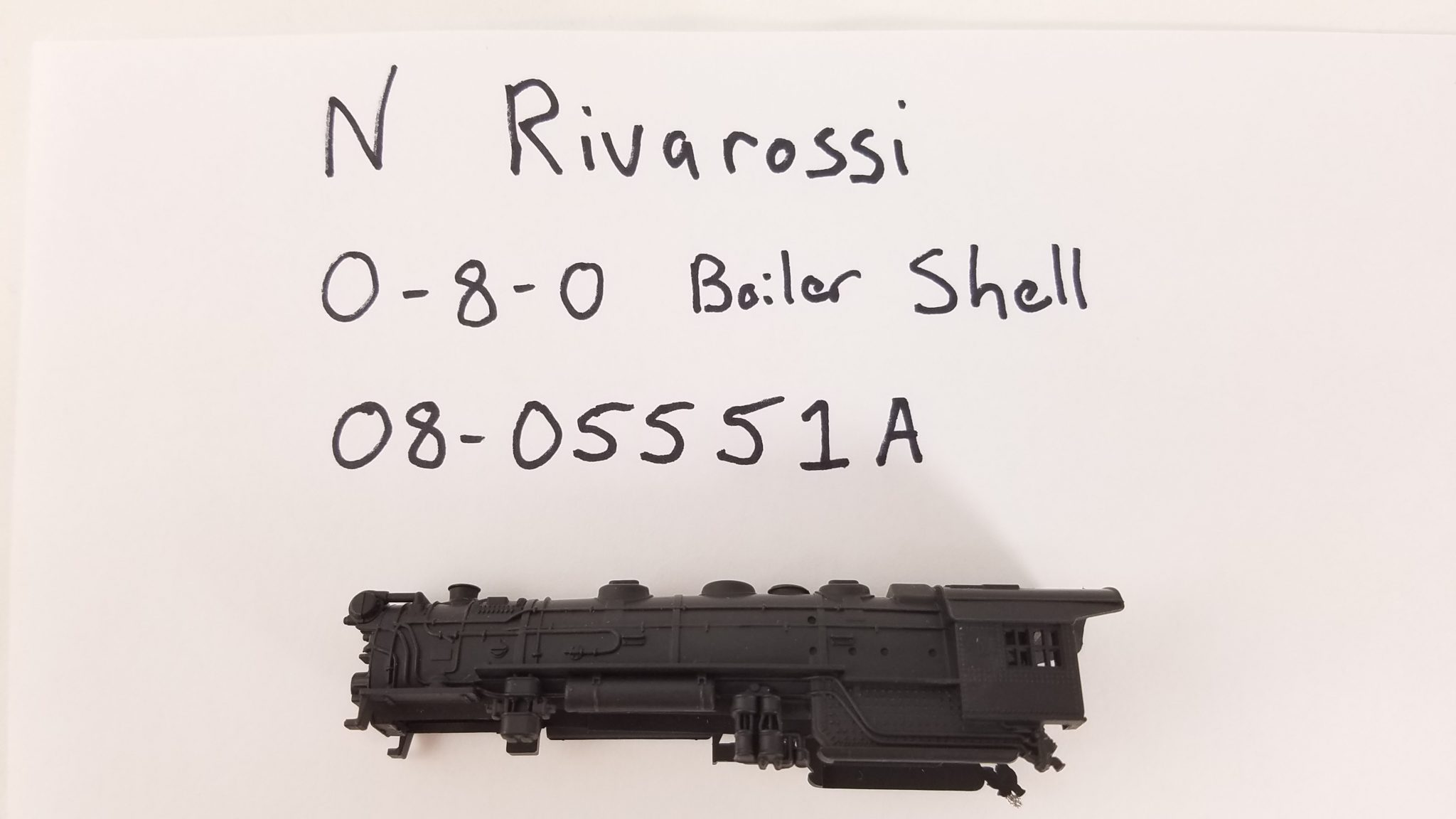 N Rivarossi 0-8-0 Boiler shell, undecorated