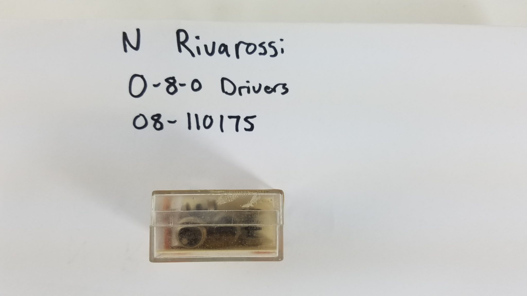 N Rivarossi 0-8-0 Drivers (Wheels, 3 Gears, 6 metal washers, 3 plastic clips)