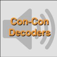 Decoders for Con-Cor Train Models