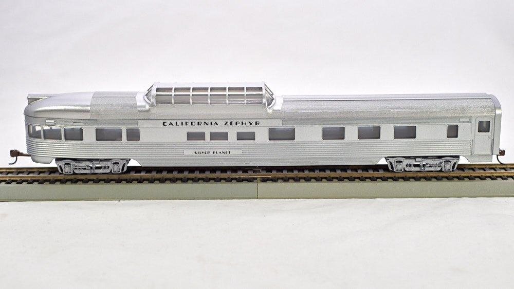 1-716 HO 85 Ft ACF mid-Train  Dome Corrugated Passenger  Cal-Zephyr